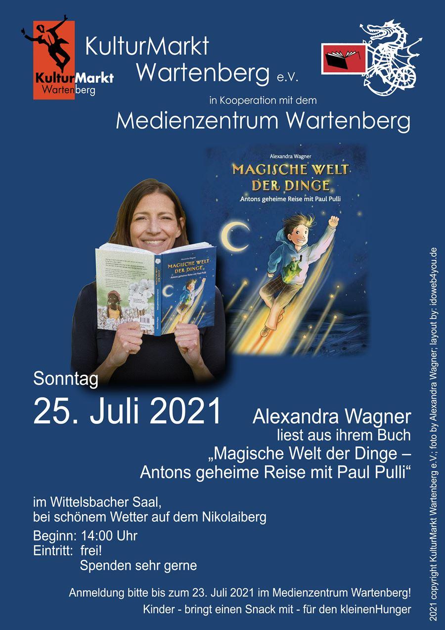 Lesung, Alexandra Wagner, Magische Welt der Dinge, Medienzentrum wartenberg