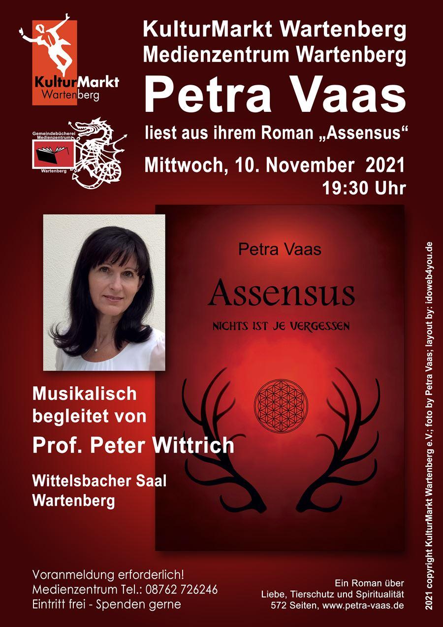 """Petra Vaas liest aus """"Assensus"""""""